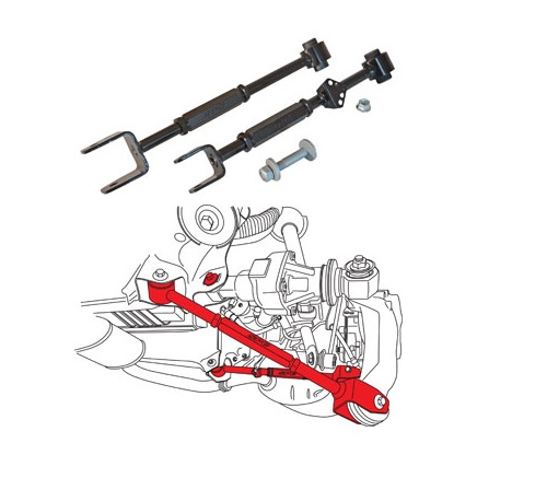 SPC Performance 67560 Rear Adjustable Arm and Toe Cam Set Acura TLX 2015