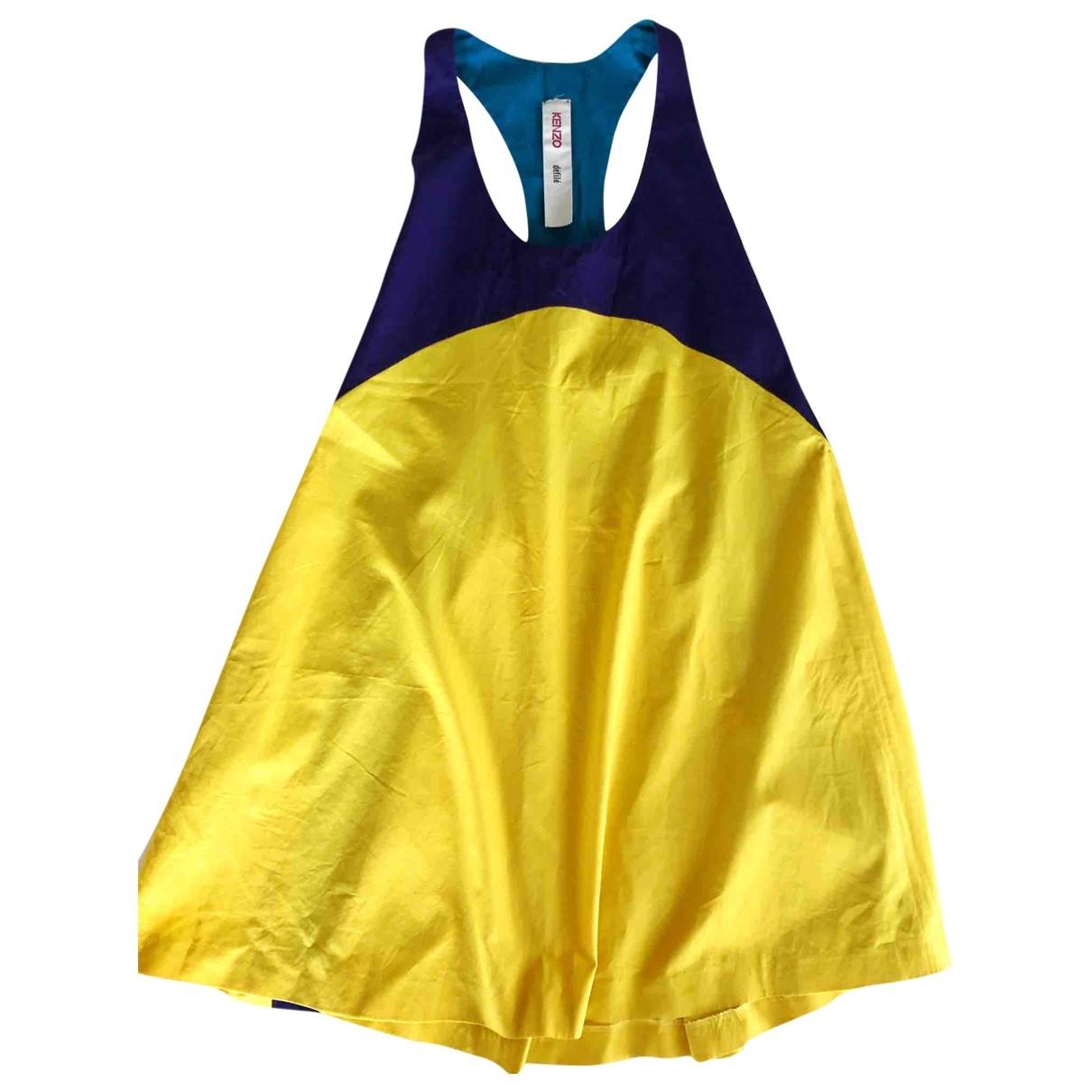 Kenzo \N Kleid in  Gelb Baumwolle