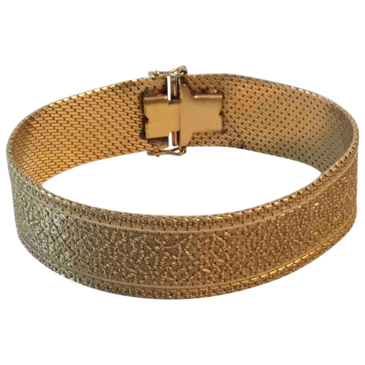 - Bracelet Art Deco pour femme en plaque or - dore