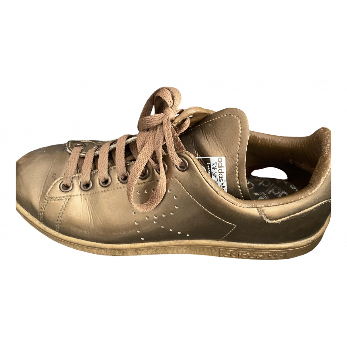 Adidas X Raf Simons Stan Smith Sneakers in  Gold Leder