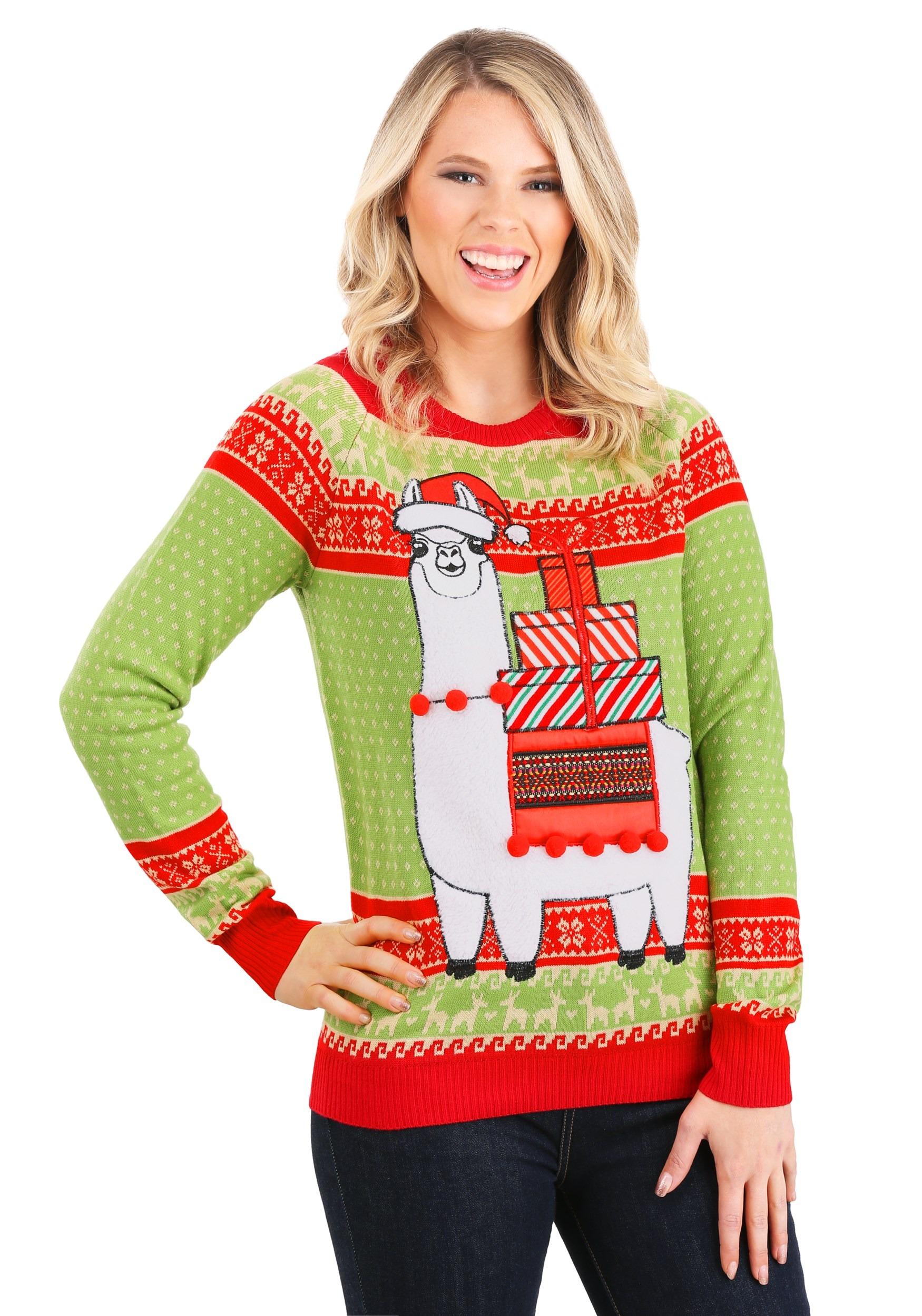 Llama Ugly Sweater Adult Christmas