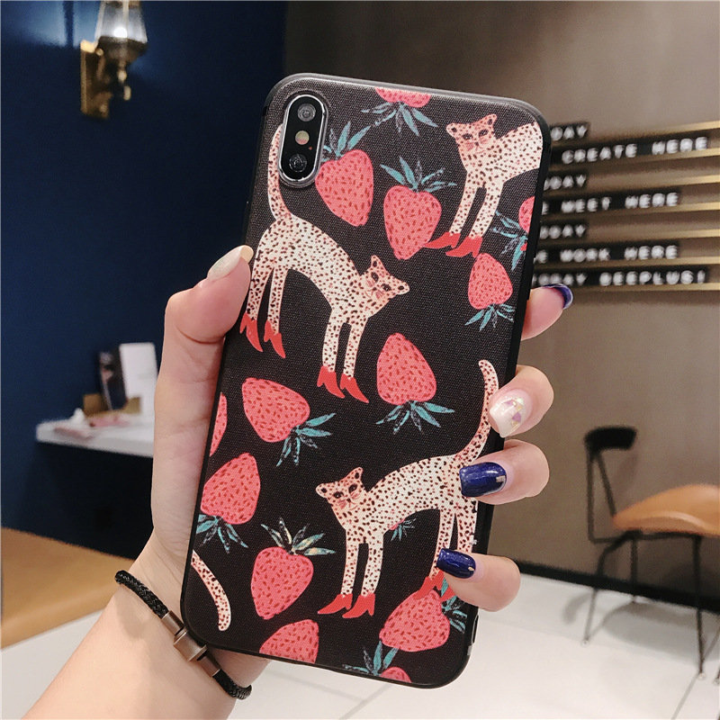 Woman Cartoon Creative Mobile Phone Case Protection Soft Shell