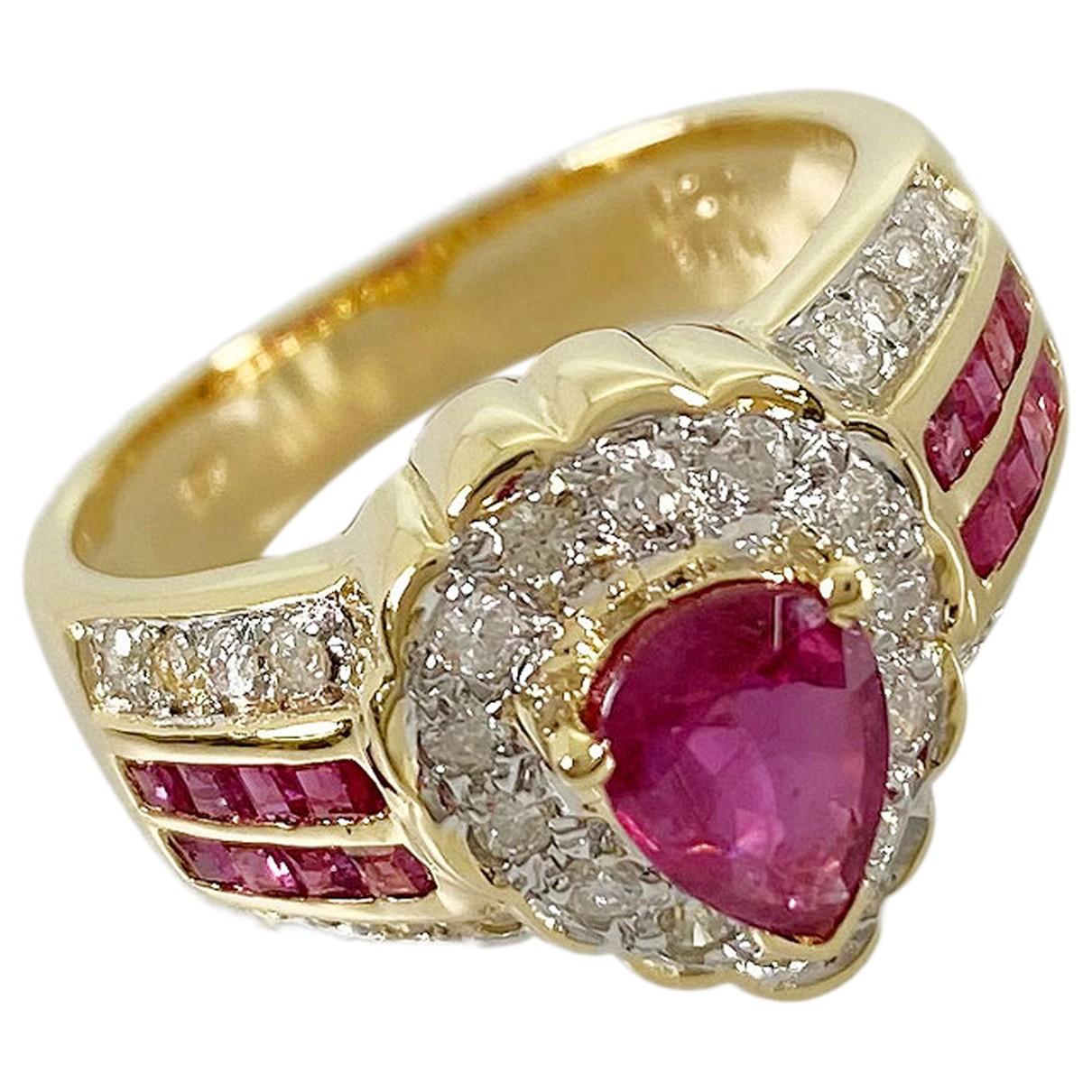 - Bague   pour femme en or jaune - rose
