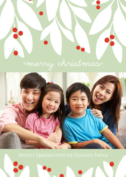 Christmas Photo Cards 5x7 Cards, Standard Cardstock 85lb, Card & Stationery -Garland Christmas