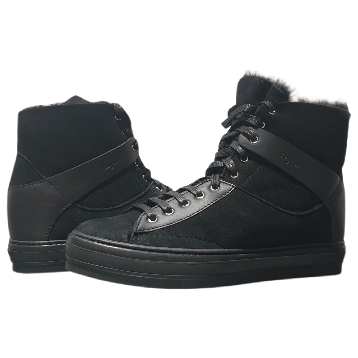 Salvatore Ferragamo \N Sneakers in  Schwarz Veloursleder