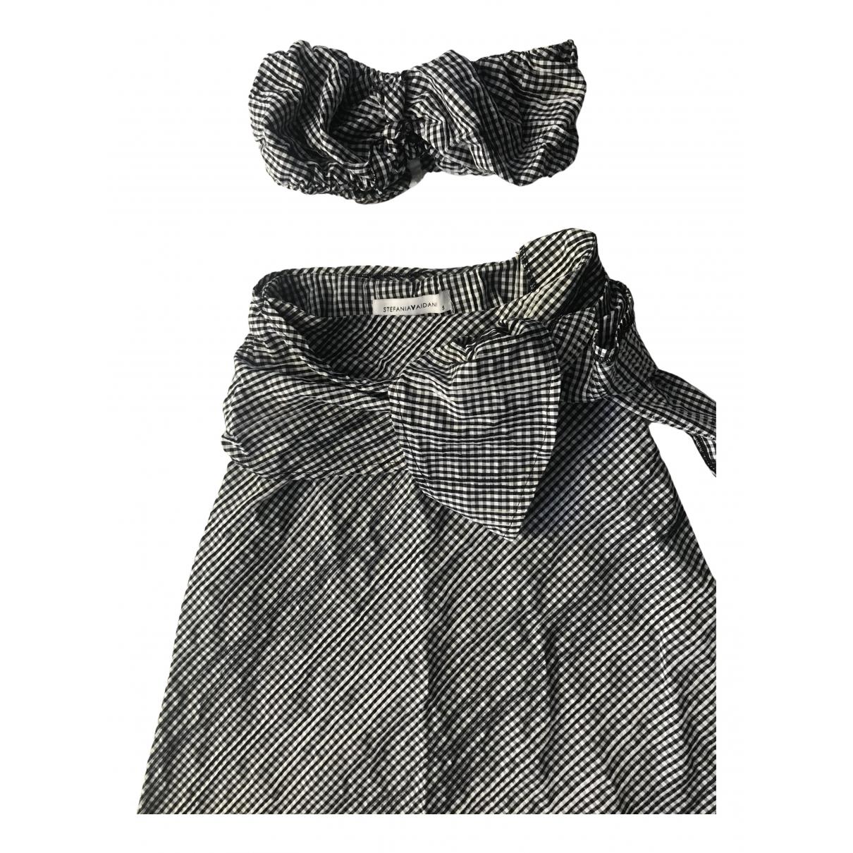 Stefania Vaidani - Robe   pour femme en coton - noir