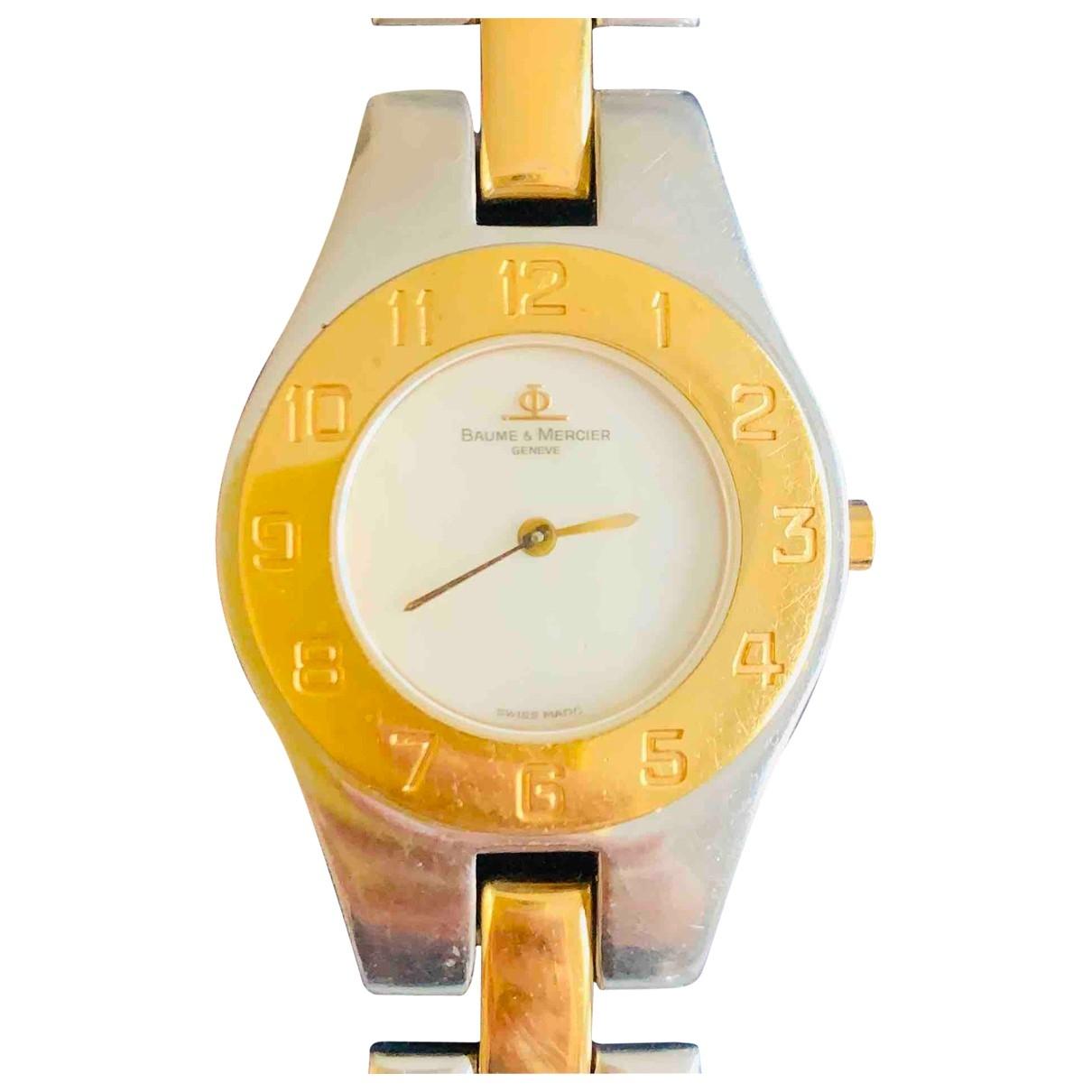 Baume Et Mercier Linea Uhr in  Metallic Gold und Stahl