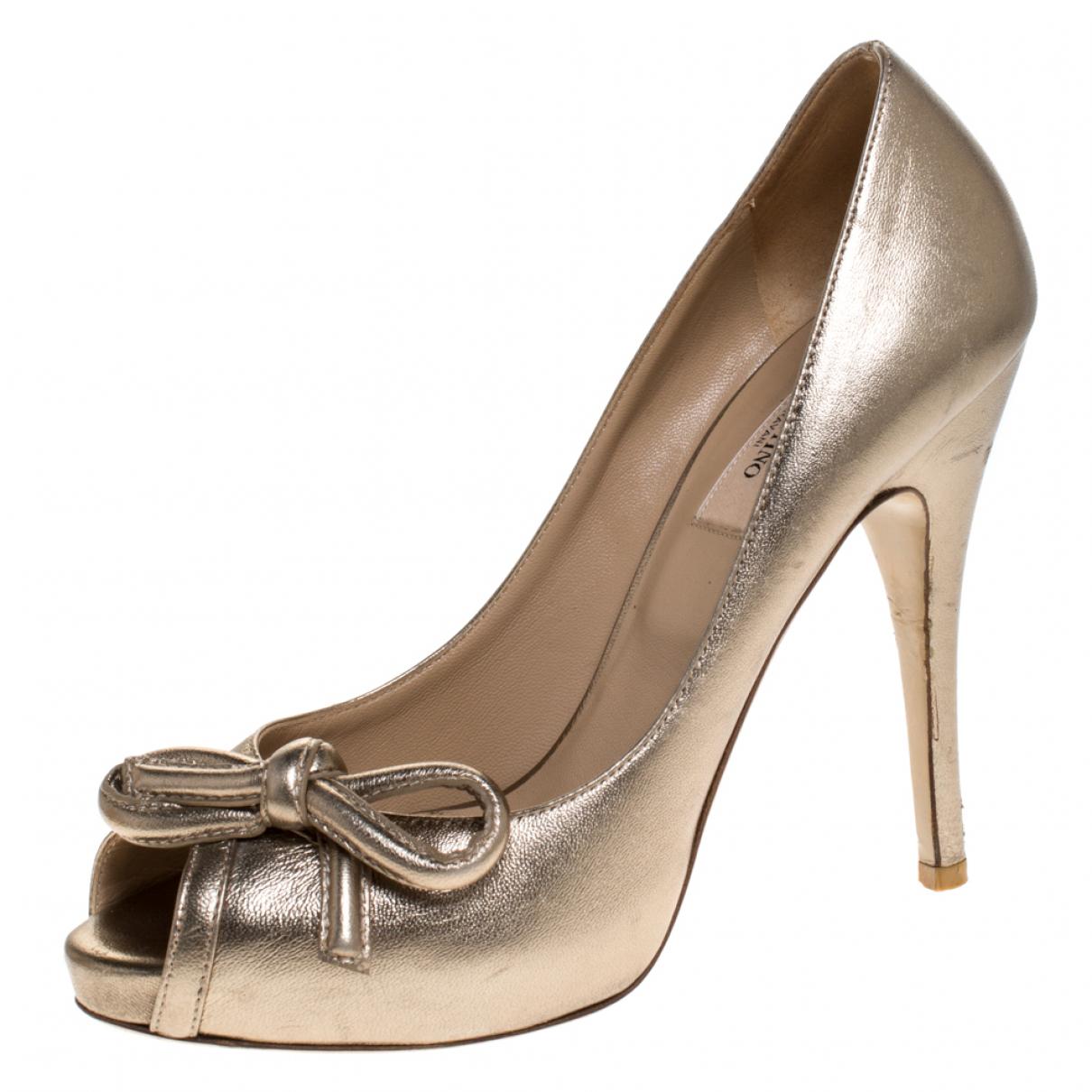 Autre Marque N Metallic Leather Sandals for Women 8 US