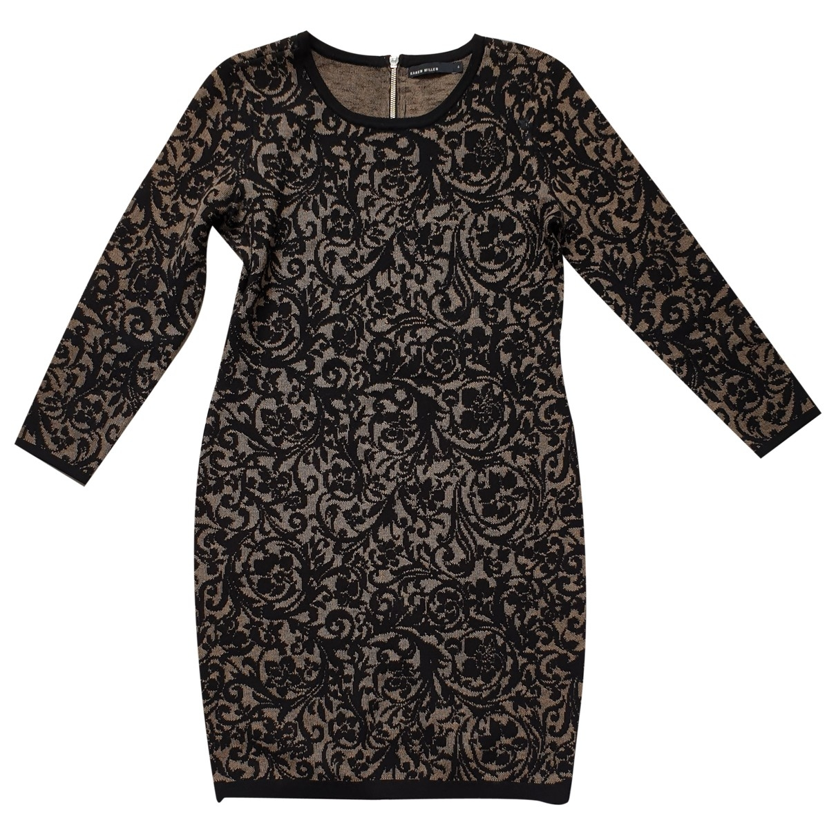 Karen Millen \N Black Wool dress for Women 4 0-5