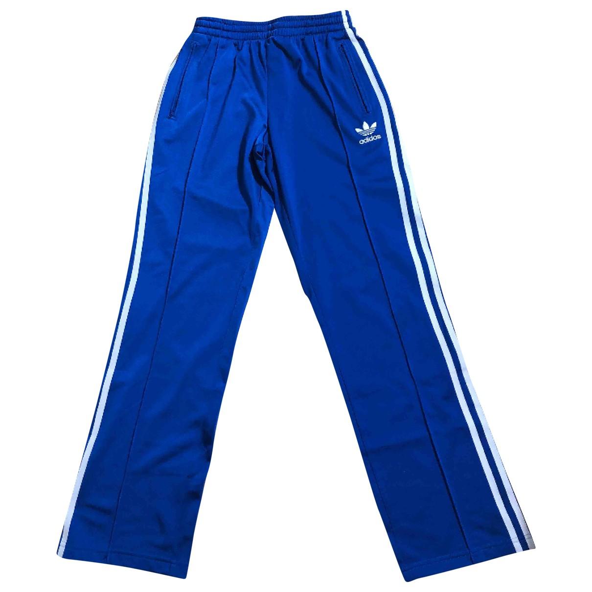 Adidas \N Hose in  Blau Synthetik