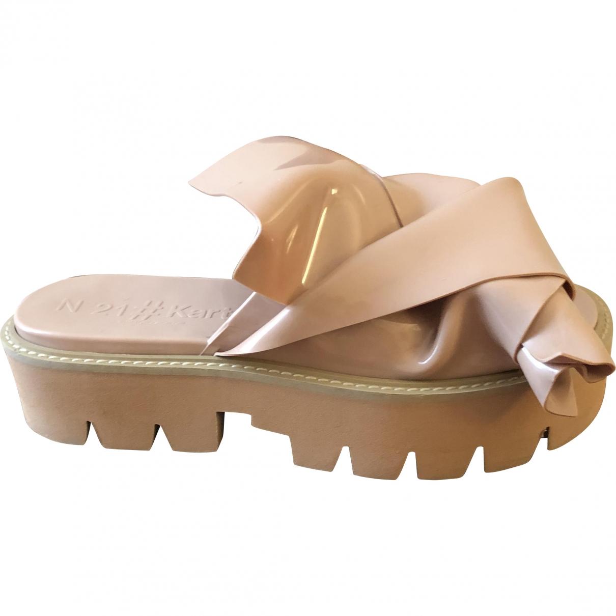 N°21 \N Beige Rubber Sandals for Women 40 EU