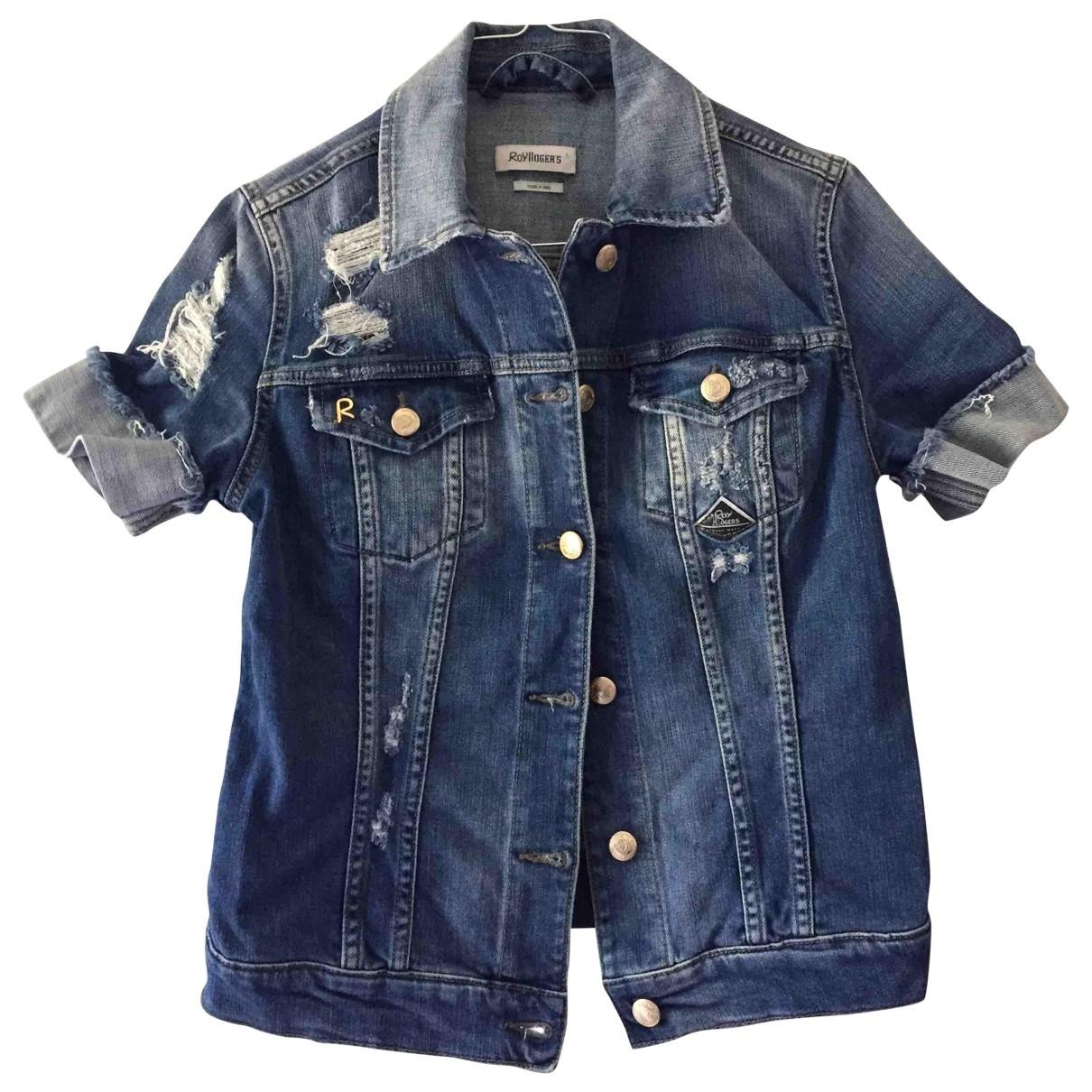 Roy Roger's \N Blue Cotton jacket for Women 40 IT
