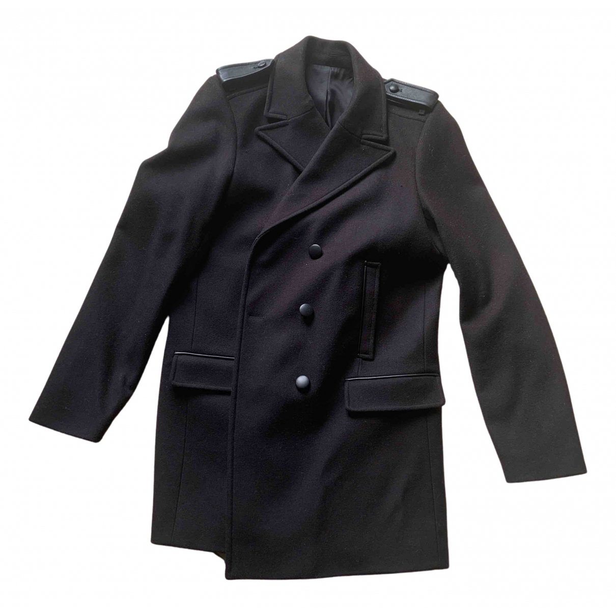The Kooples N Black Wool coat for Women 42 FR