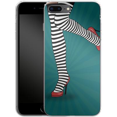 Apple iPhone 8 Plus Silikon Handyhuelle - Stripy Tights von Mark Ashkenazi
