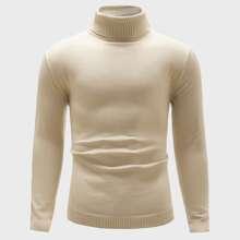 Men Solid Turtleneck Sweater