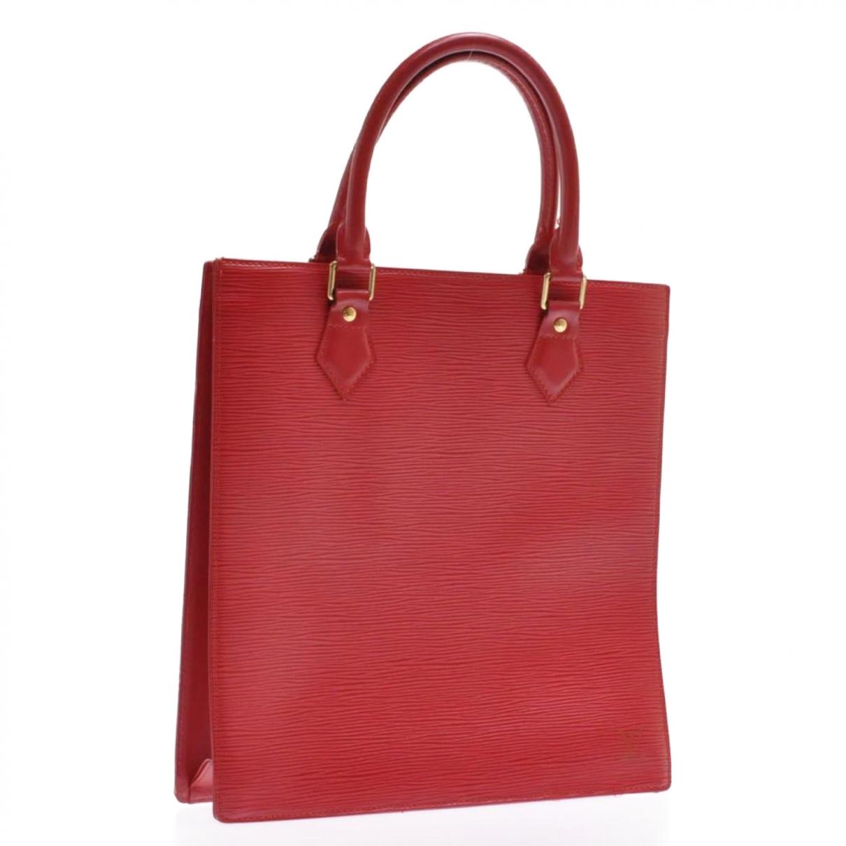 Louis Vuitton - Sac a main Plat pour femme en cuir - rouge