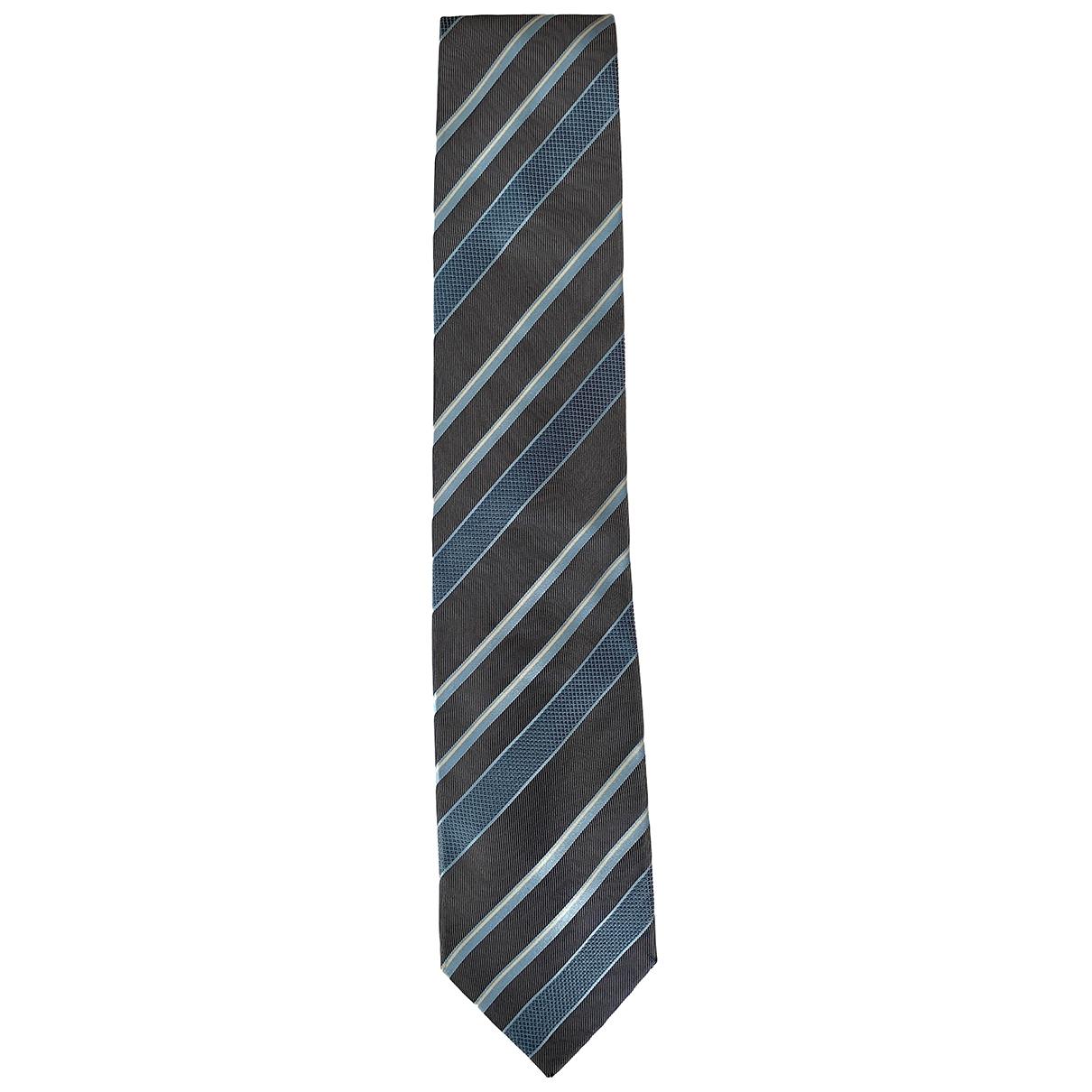 Ermenegildo Zegna \N Krawatten in  Blau Seide