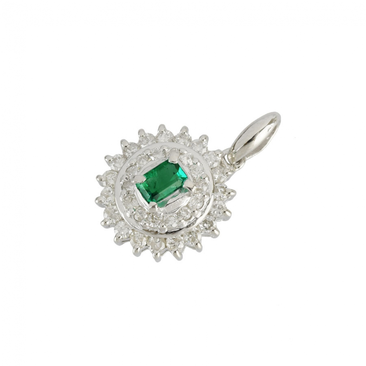 Non Signé / Unsigned \N Platinum pendant for Women \N