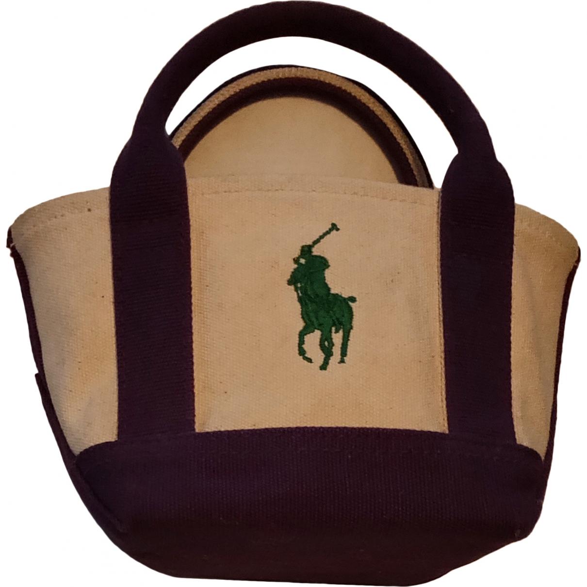 Ralph Lauren \N Beige Cotton handbag for Women \N
