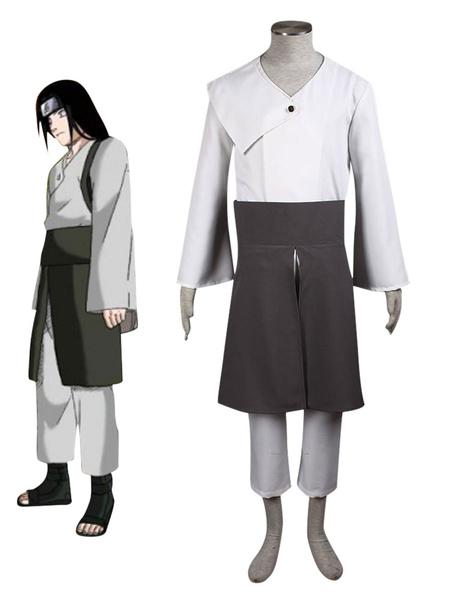 Milanoo Japanese Anime Cosplay Naruto Hyuga Neji 3 Pieces Cosplay Costume