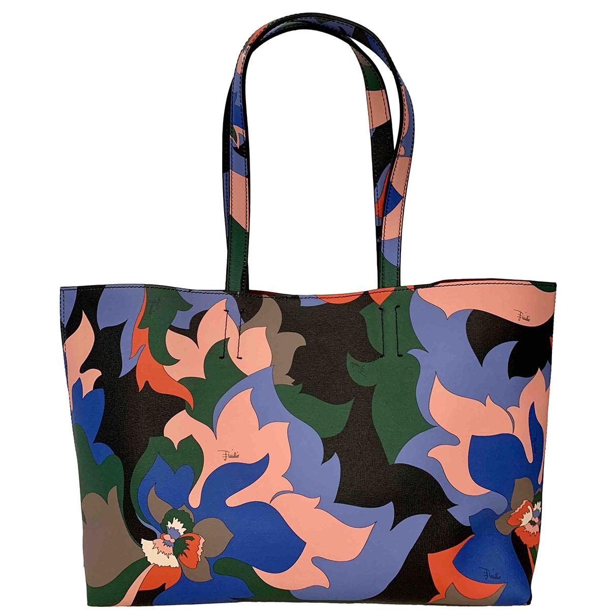Emilio Pucci - Sac a main   pour femme en cuir - multicolore