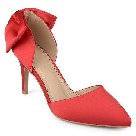 Journee Collection Womens Tanzi Pumps Stiletto Heel, 6 1/2 Medium, Red