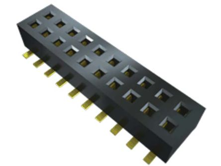 Samtec , CLP 1.27mm Pitch 10 Way 2 Row Vertical PCB Socket, Surface Mount, Solder Termination (44)