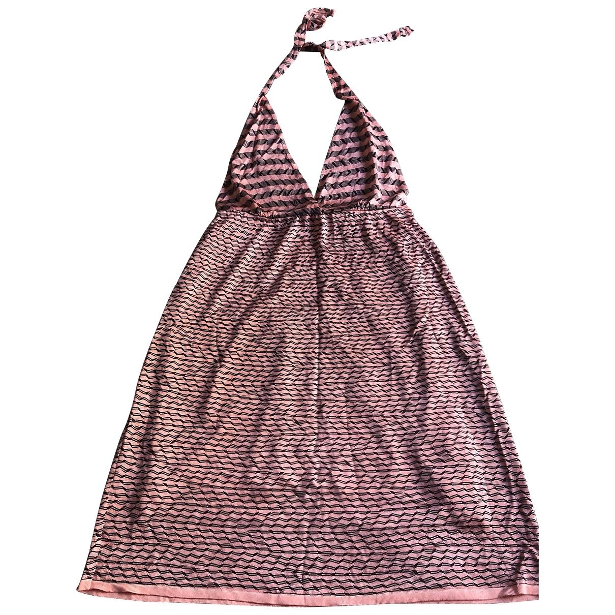 Missoni \N Kleid in  Rosa Viskose