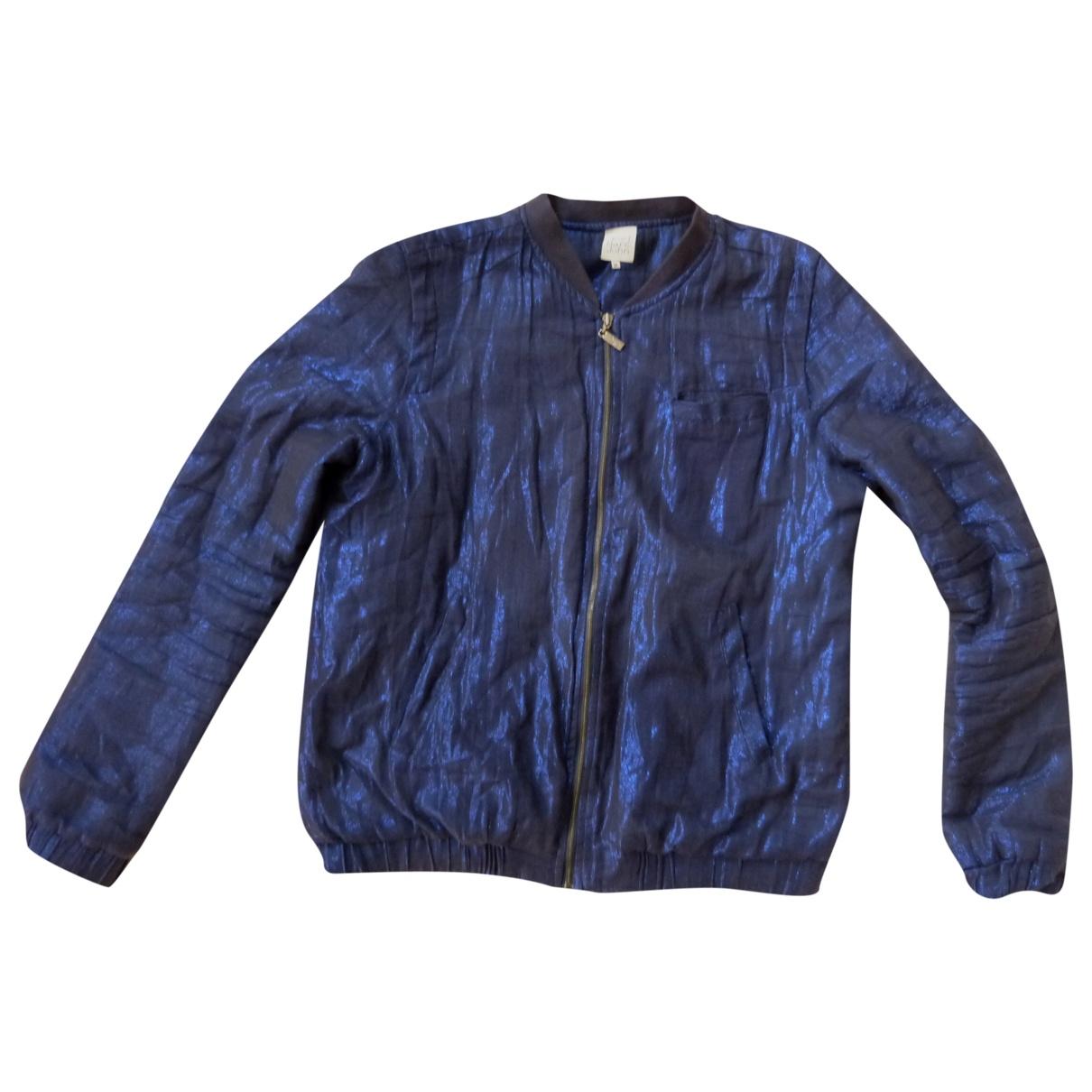 Karl Marc John \N Blue Cotton Leather jacket for Women M International