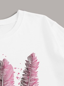 Feather & Letter Graphic Tee