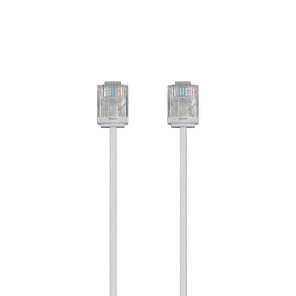 C�ble de brassage Ethernet toronn� Micro SlimRun 550MHz 36AWG Cat6 UTP - Monoprice� - 30pi, Gris