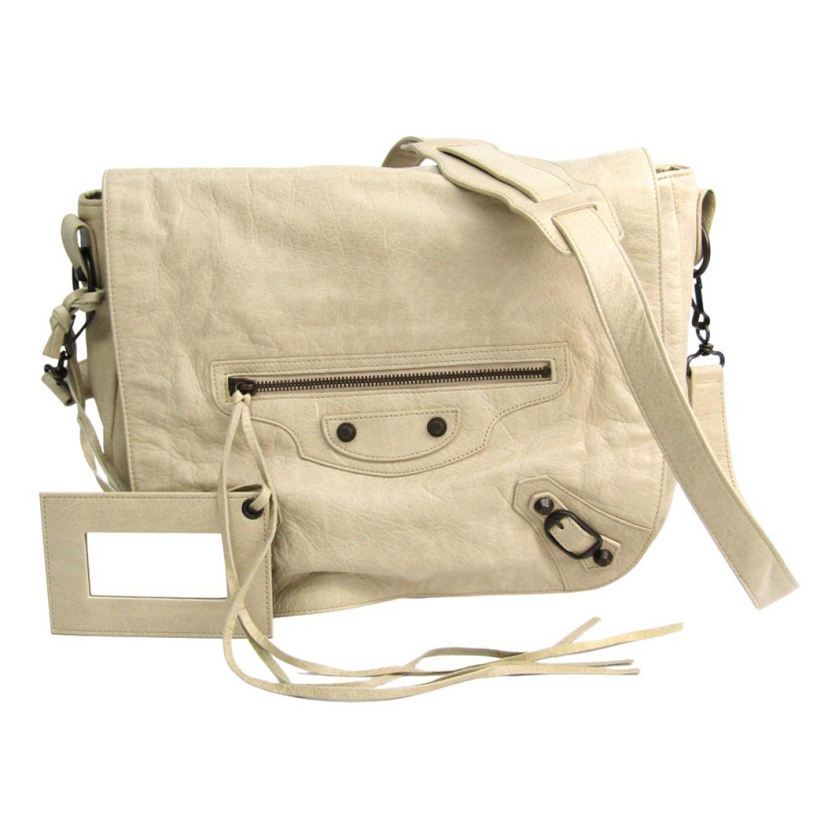 Balenciaga N Ecru Leather handbag for Women N