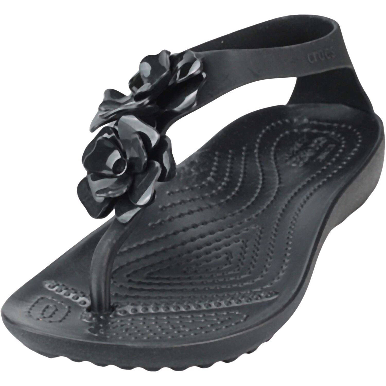 Crocs Women's Serena Embellish Flip Black / Ankle-High Sandal - 4M