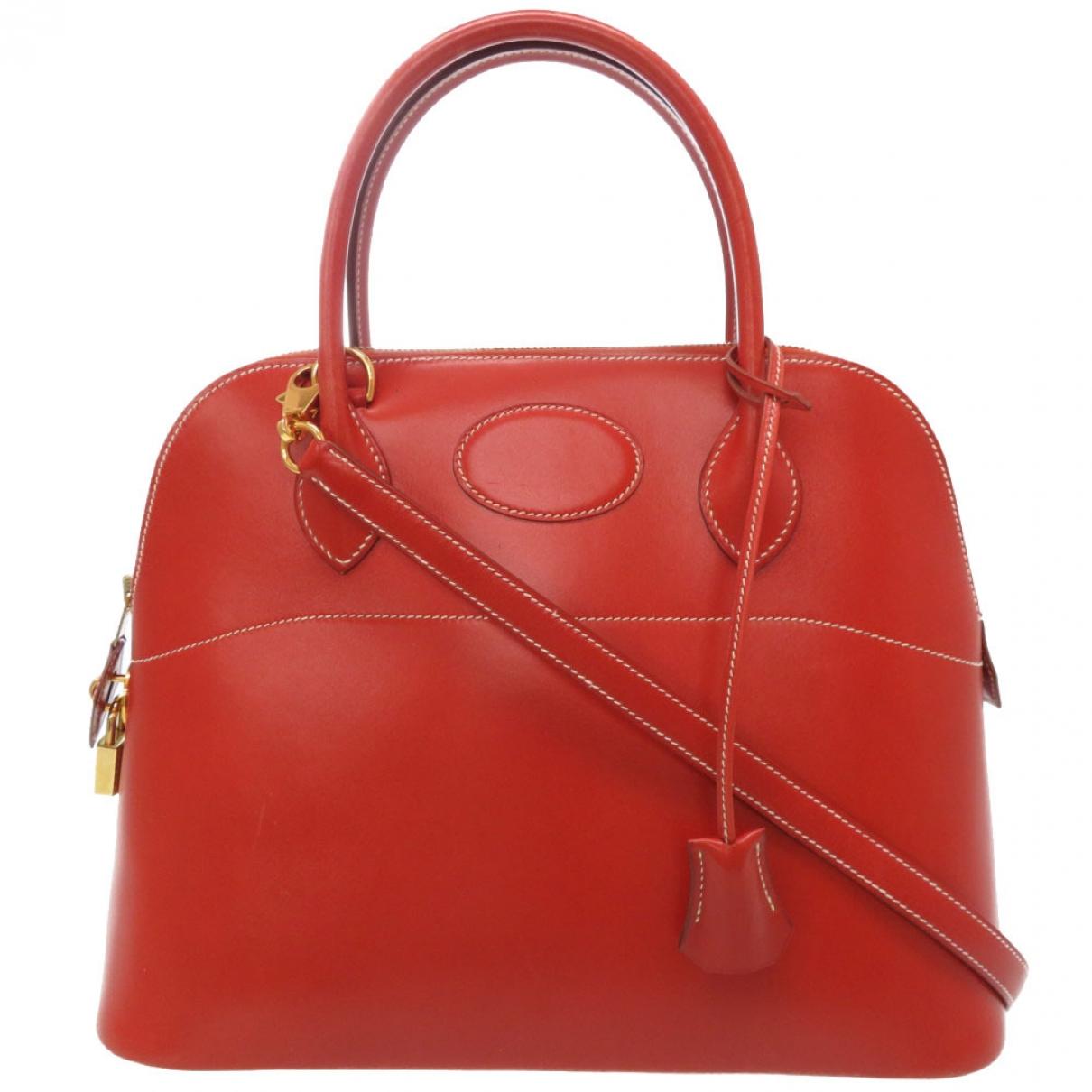 Hermes Bolide Handtasche in  Rot Leder