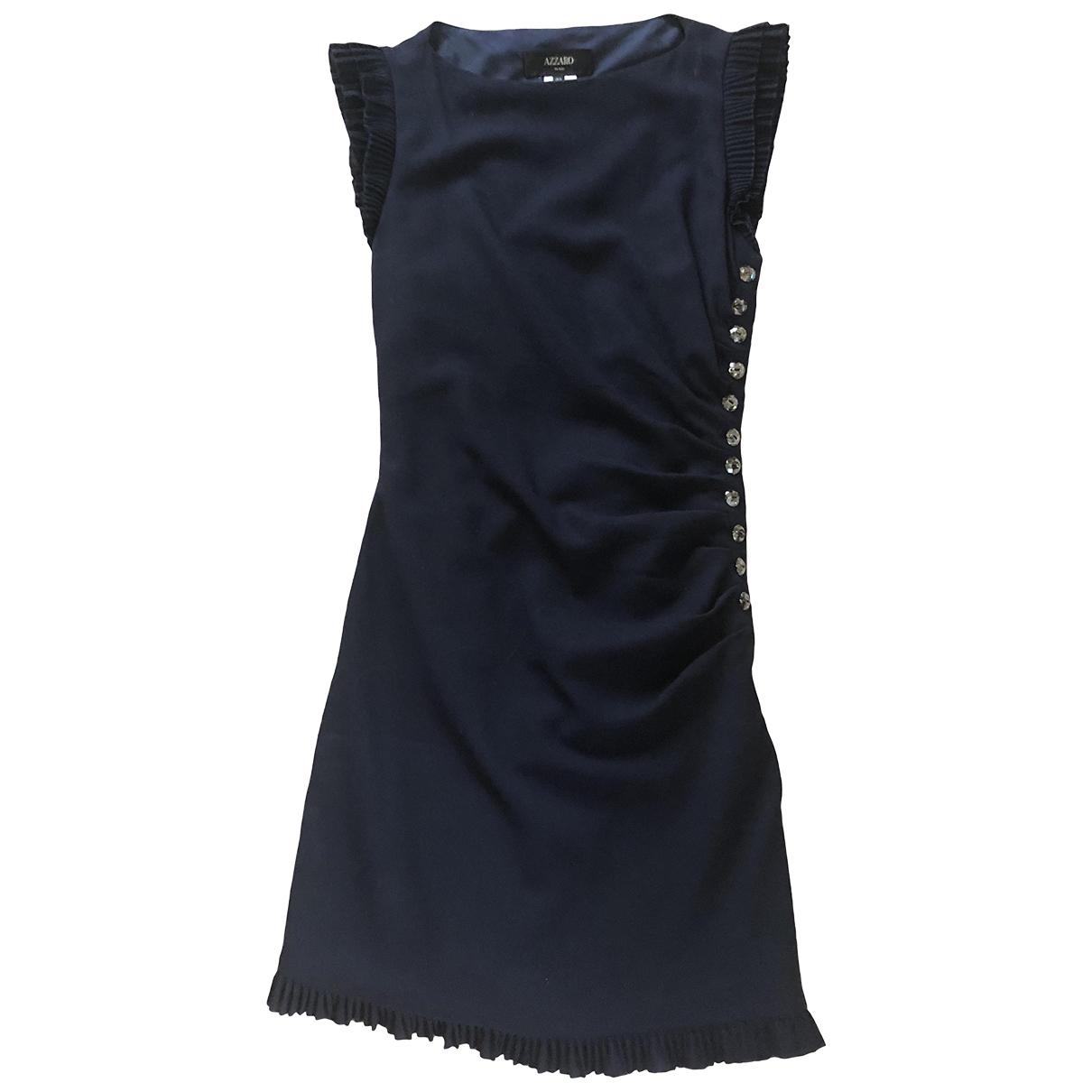 Azzaro - Robe   pour femme en laine - marine