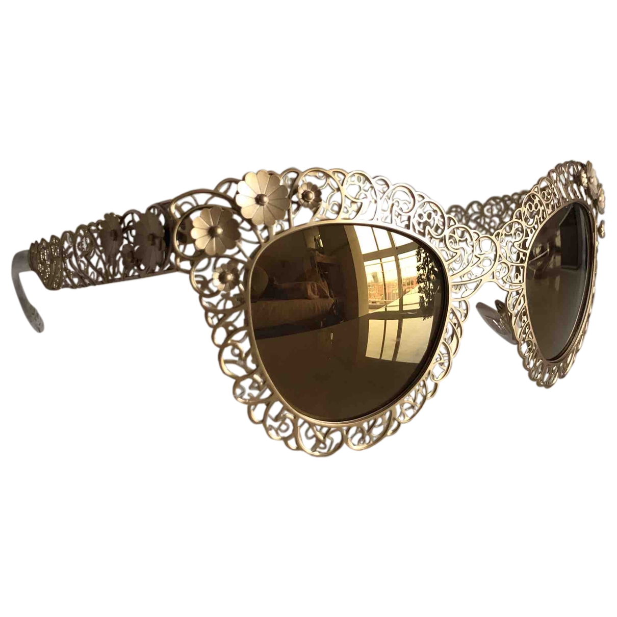 Dolce & Gabbana \N Gold Metal Sunglasses for Women \N