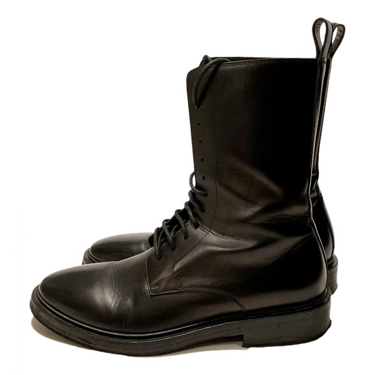 Balenciaga N Black Leather Boots for Men 43 EU