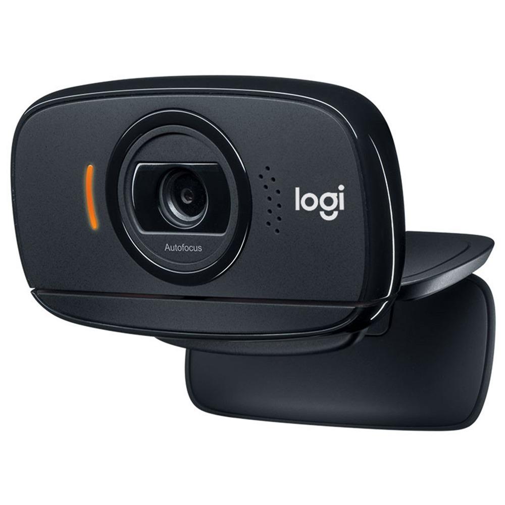 Logitech C525 HD Video Webcam With Autofocus 8MP Camera 360 Rotating 720P USB2.0 - Black