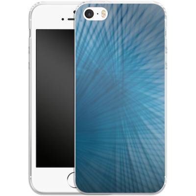 Apple iPhone SE Silikon Handyhuelle - Blue Lines von Joy StClaire