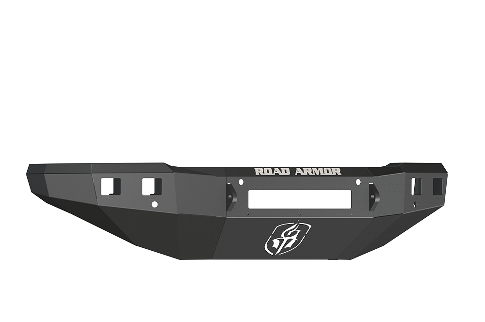 CHEVY Front Non-Winch Bumper Square Light Ports 2500,3500 15-16 BLACK Road Armor 315R0B-NW Stealth Series