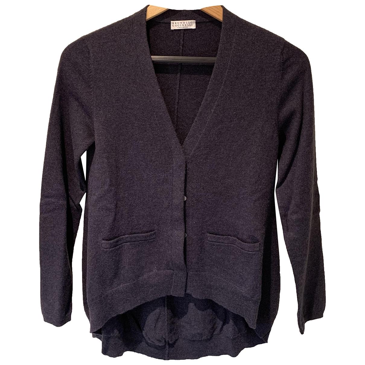 Brunello Cucinelli \N Pullover in  Grau Kaschmir