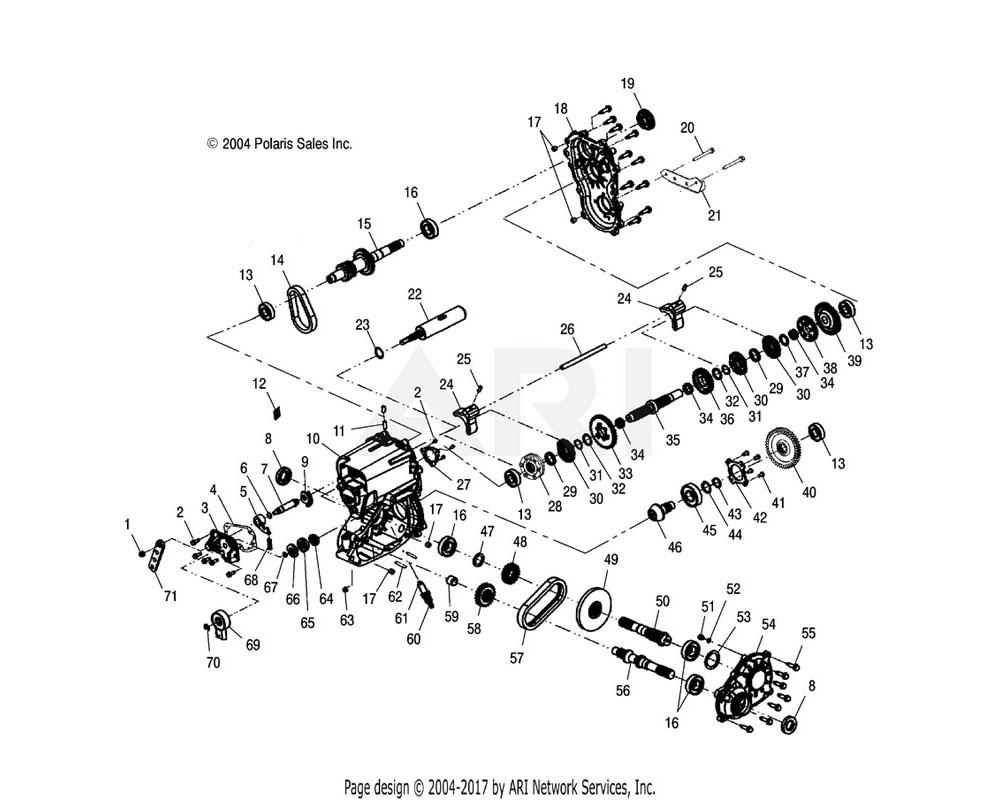 Polaris OEM 3234011 Gear, 29T