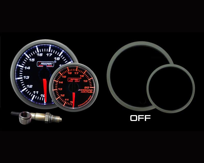 Prosport Performance Wideband Air Fuel Ratio with Bosch O2 Sensor Gauge Kit   Peak Warning