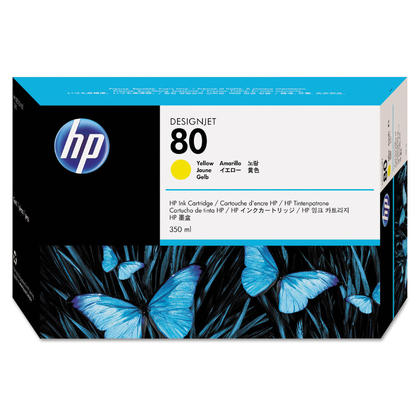 HP 80 C4848A Original Yellow Ink Cartridge 350ml