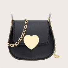 Bolsa sillin de niñas con cerradura de corazon metalico