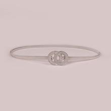 Cinturon con aro O con diamante de imitacion