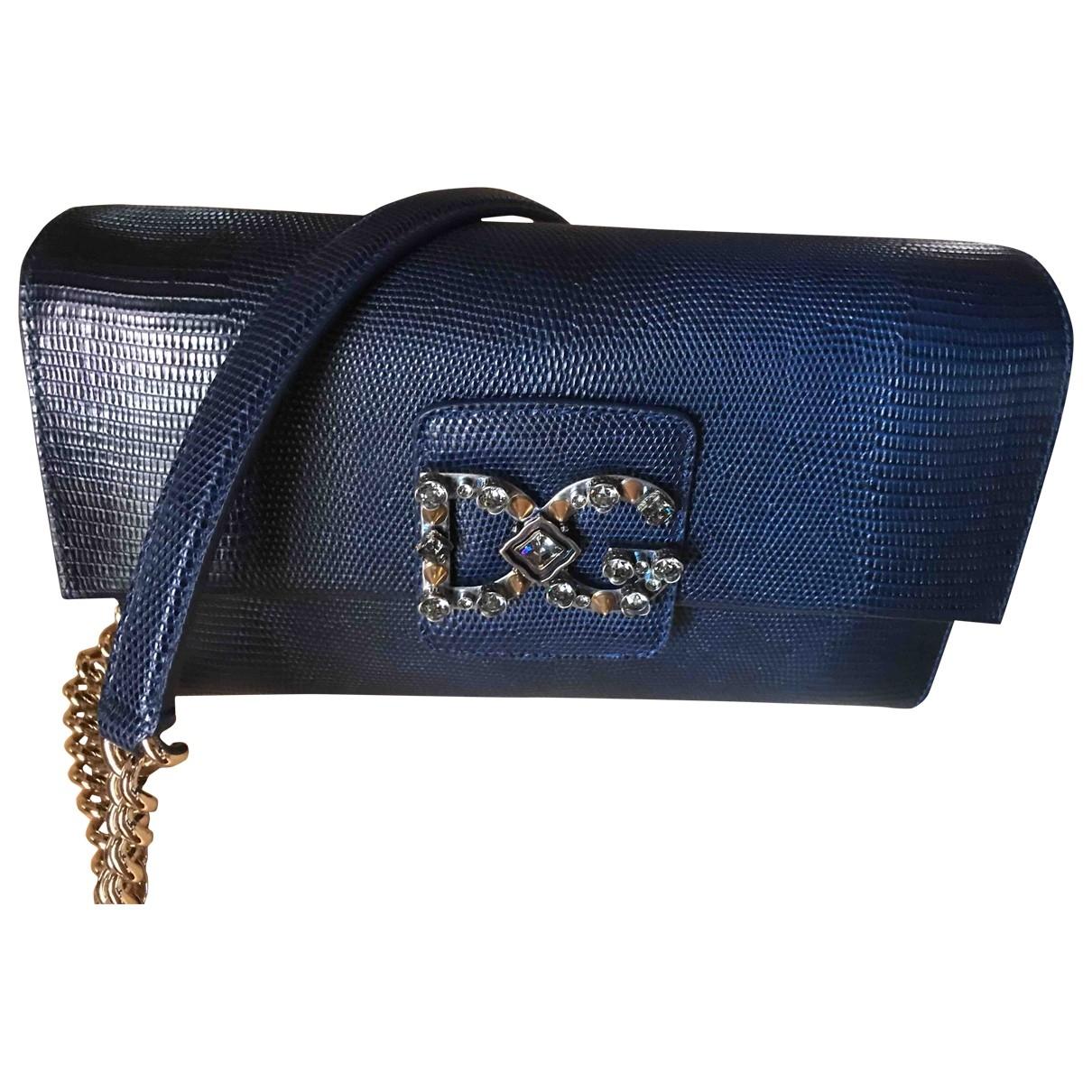 Dolce & Gabbana \N Blue Leather handbag for Women \N