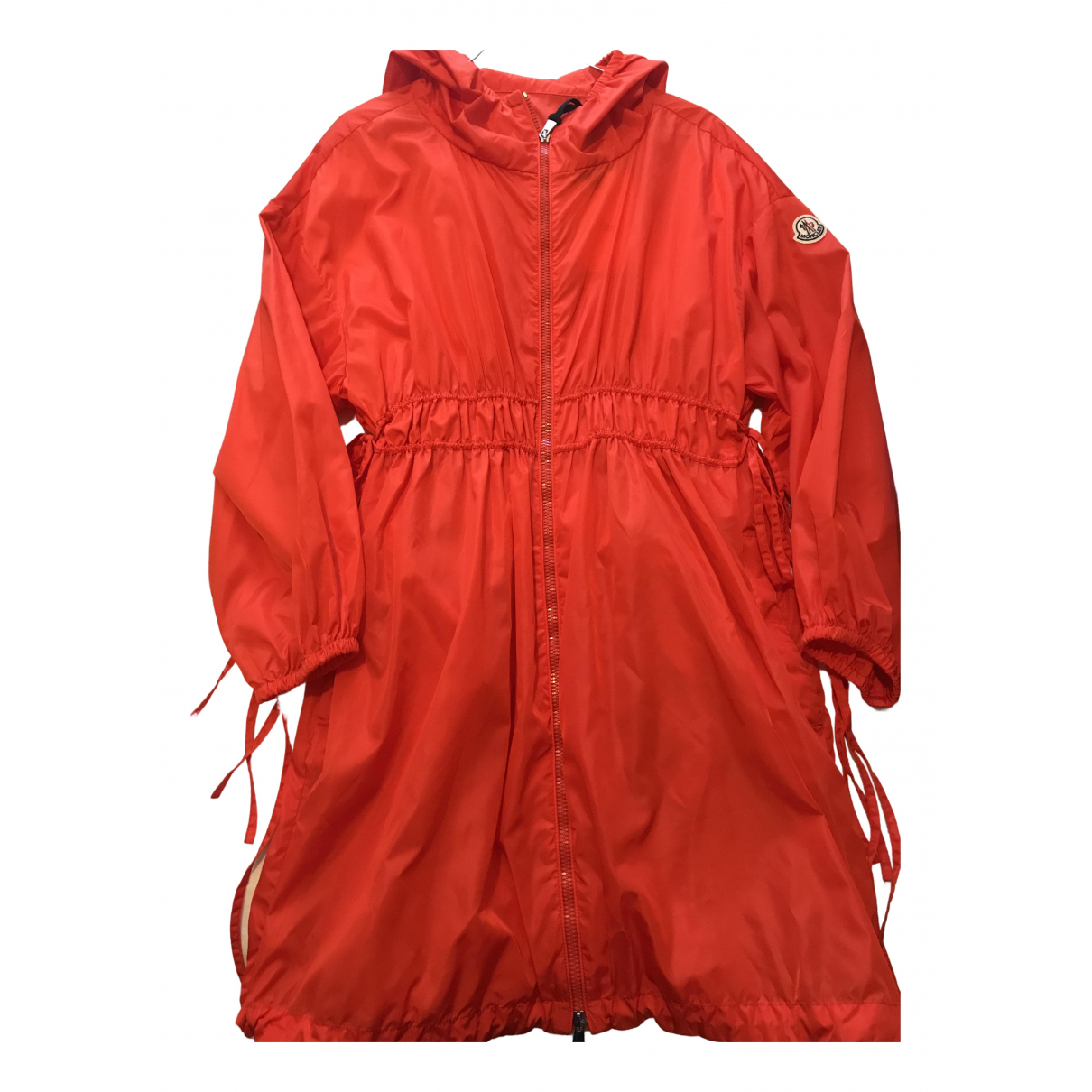 Moncler - Trench   pour femme - rouge