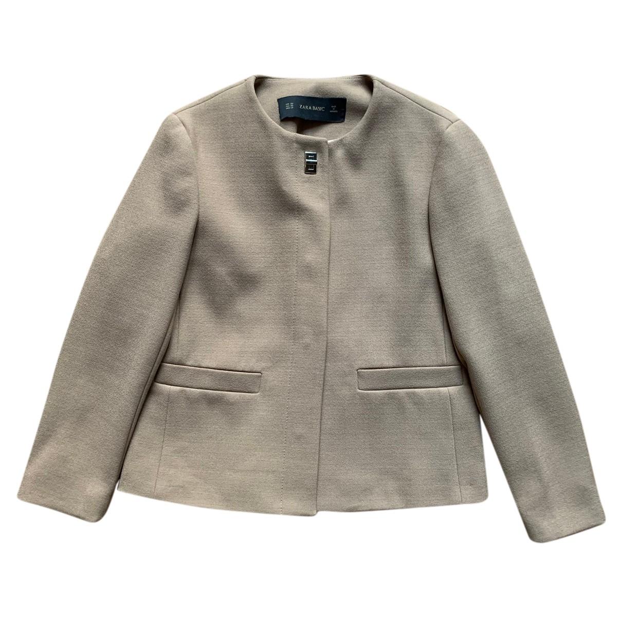 Zara - Veste   pour femme en laine - beige