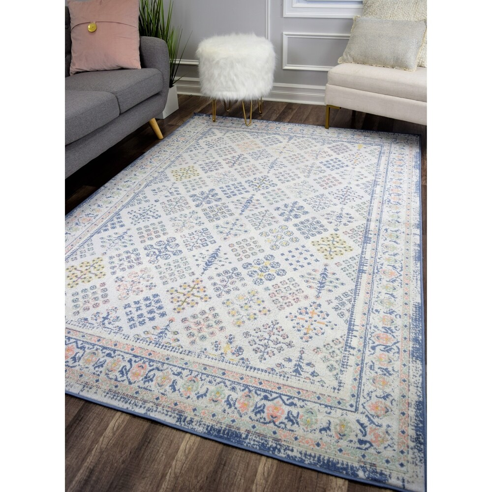 The Curated Nomad Ingleside Ivory Vintage Transitional Rug (5'1